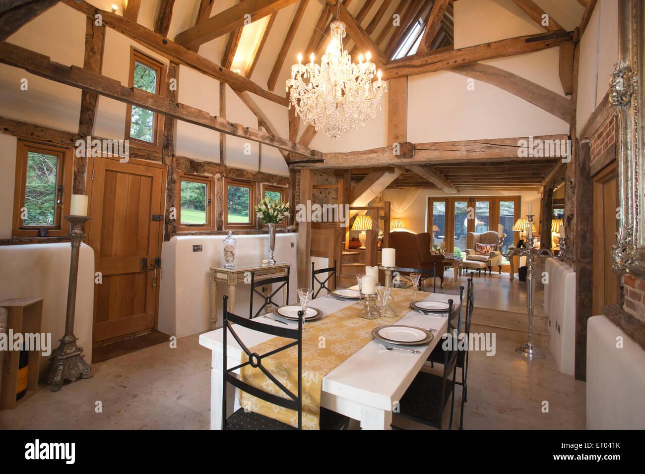 Interior Of Beautiful Barn Conversion In Wanborough