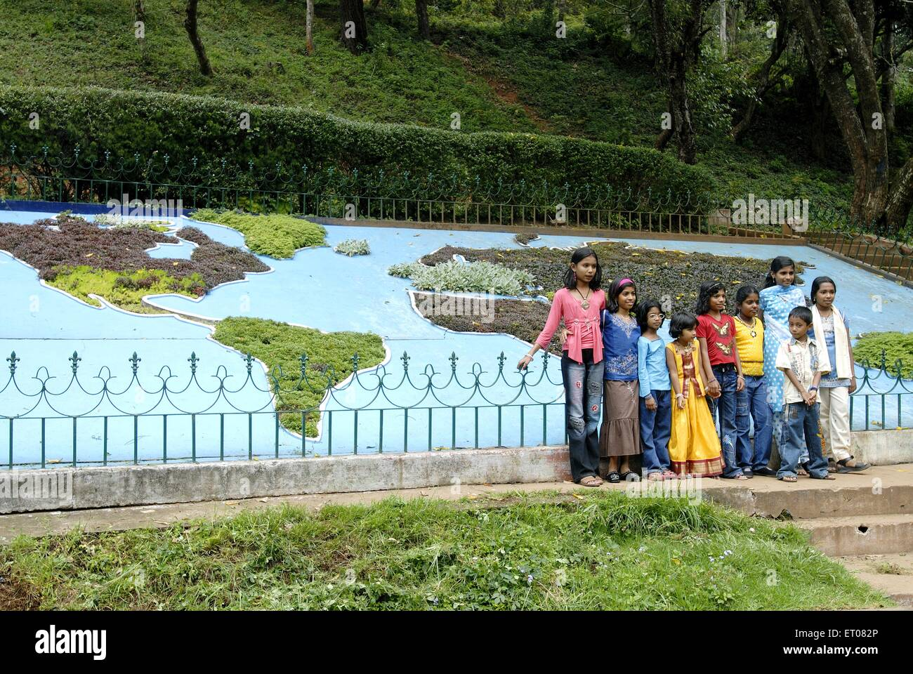 Sims Park In Coonoor At Height Of Meters Above Sea Level - Metres above sea level