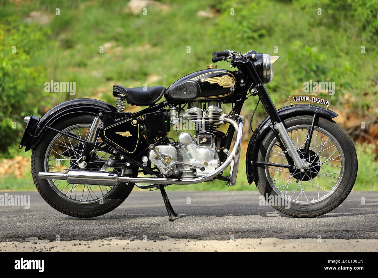 Royal enfield bullet pictures -  Royal Enfield Bullet G2 350 Cc 1960 Vintage Motorcycle Stock Photo