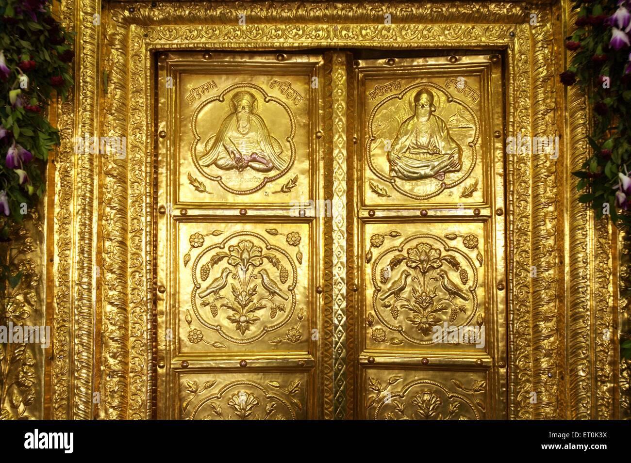 Golden door of Sachkhand Saheb Gurudwara in Nanded ; Maharashtra ; India & Golden door of Sachkhand Saheb Gurudwara in Nanded ; Maharashtra ... Pezcame.Com