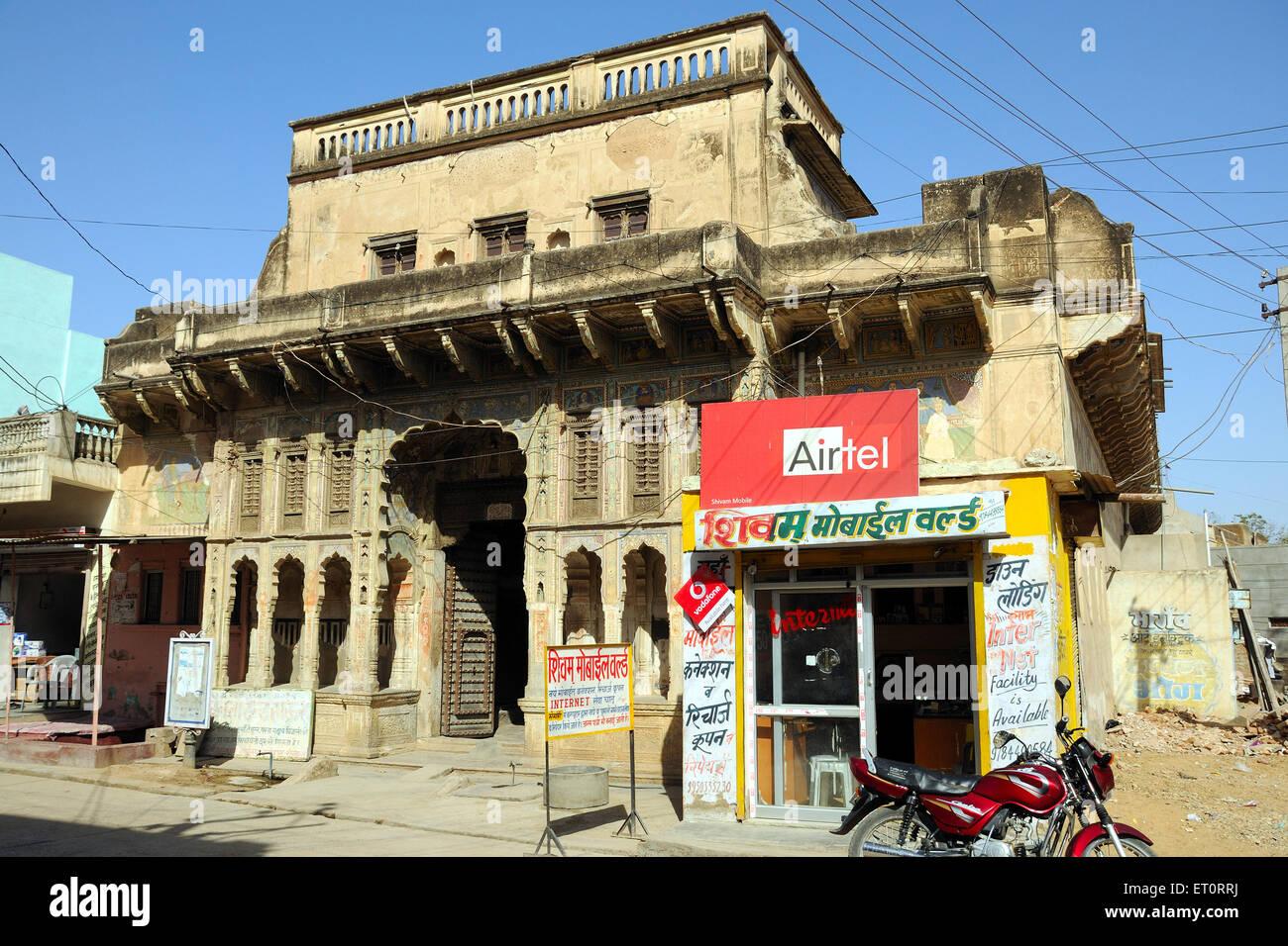 Haveli Fatehpur Shekhawati Rajasthan India Stock