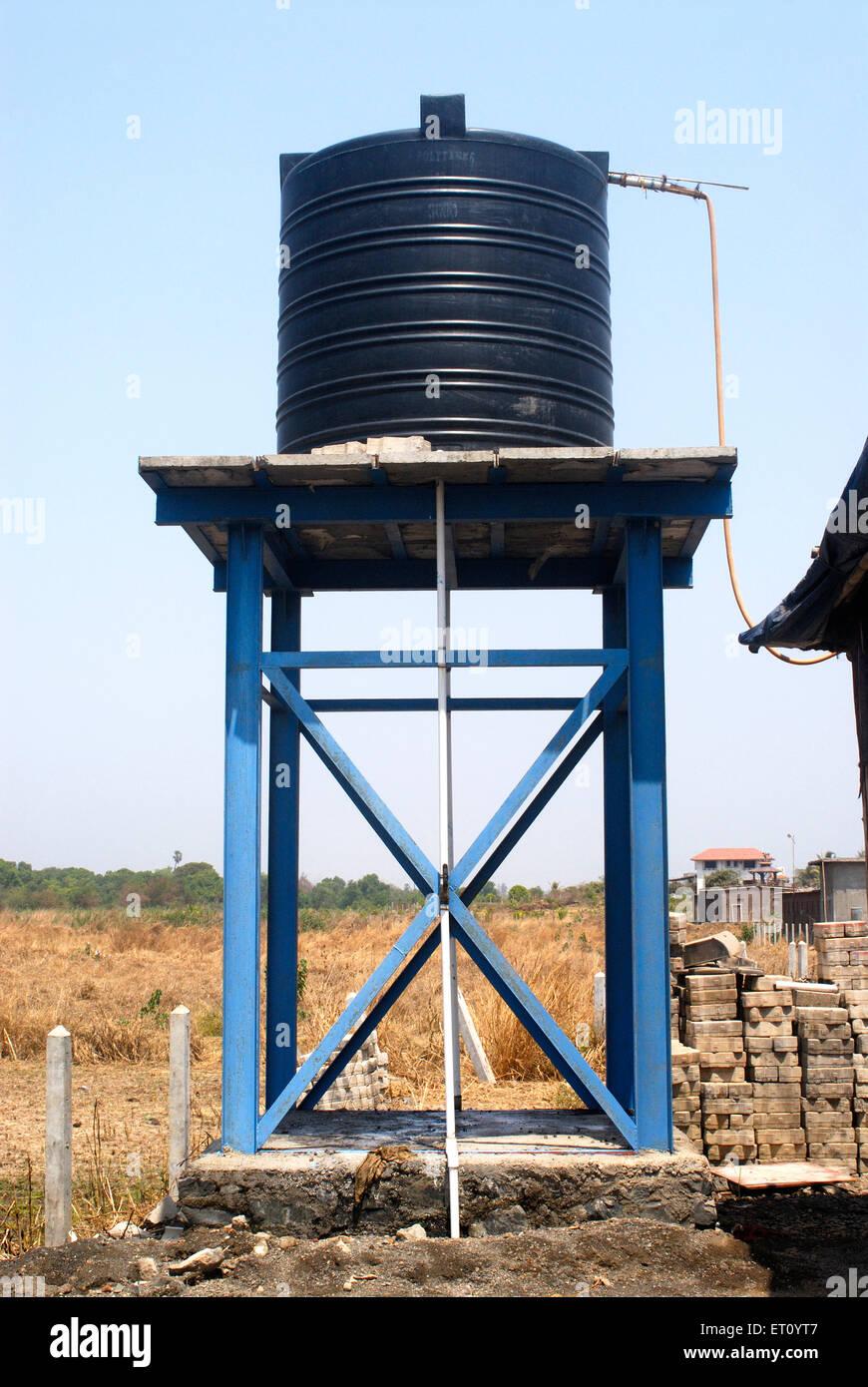 Circular Poly Plastic Elevated Water Storage Tank At