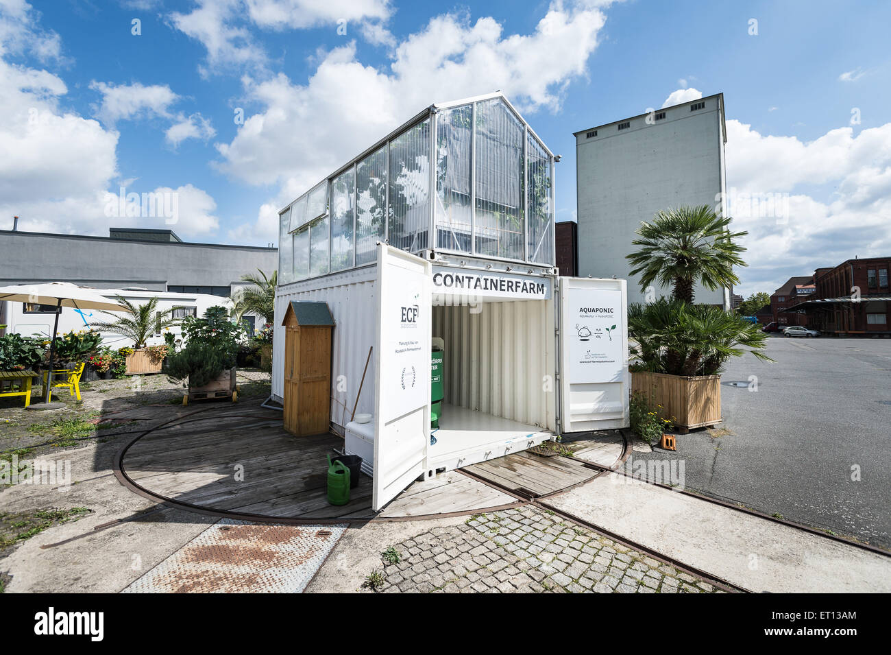 berlin germany a container farm of ecf farm systems. Black Bedroom Furniture Sets. Home Design Ideas