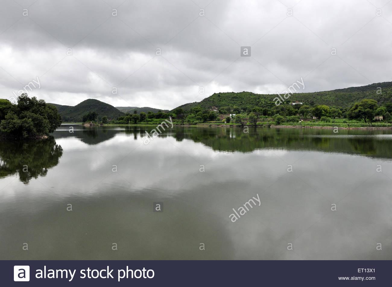 indira sagar lake Eklingji Udaipur rajasthan India Asia   Stock Image Alamy