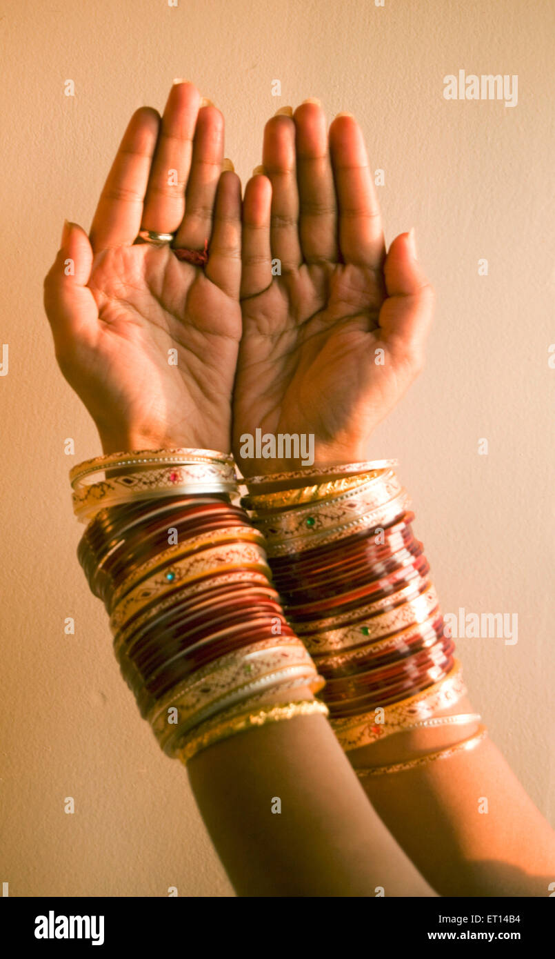Beautiful hands with colourful bangles Stock Photo, Royalty Free ...