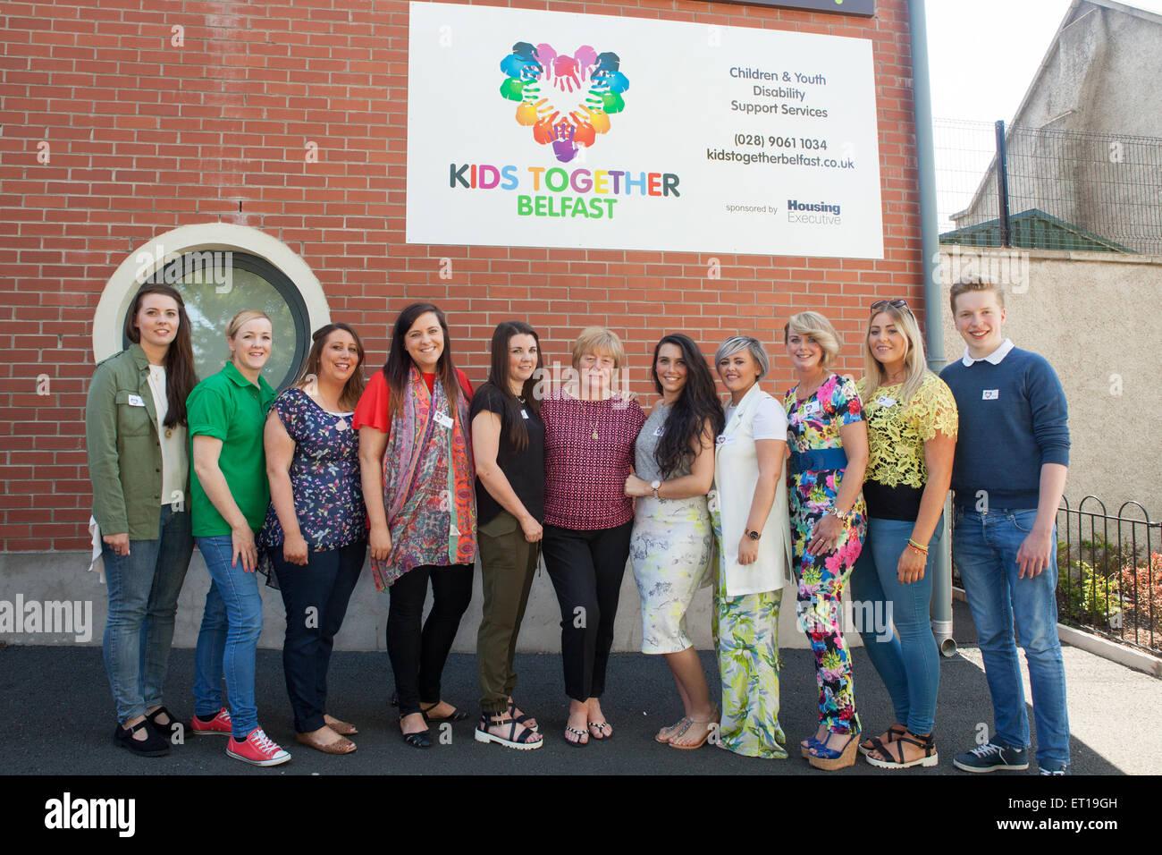 Belfast, UK. 10th June 2015 Mairead McCrea Kids Together ...