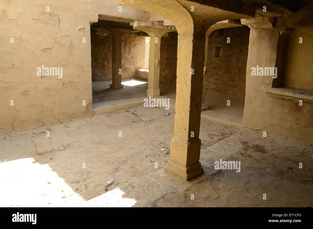 Interior House Of Abandoned Village In Kuldhara Near Jaisalmer Rajasthan  India   Stock Image