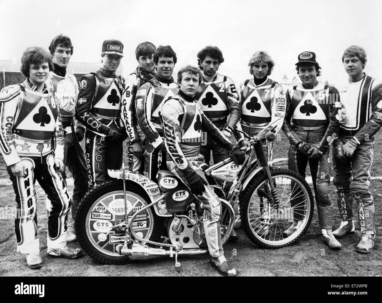 Belle Vue s senior speedway squad left to right Andy Smith
