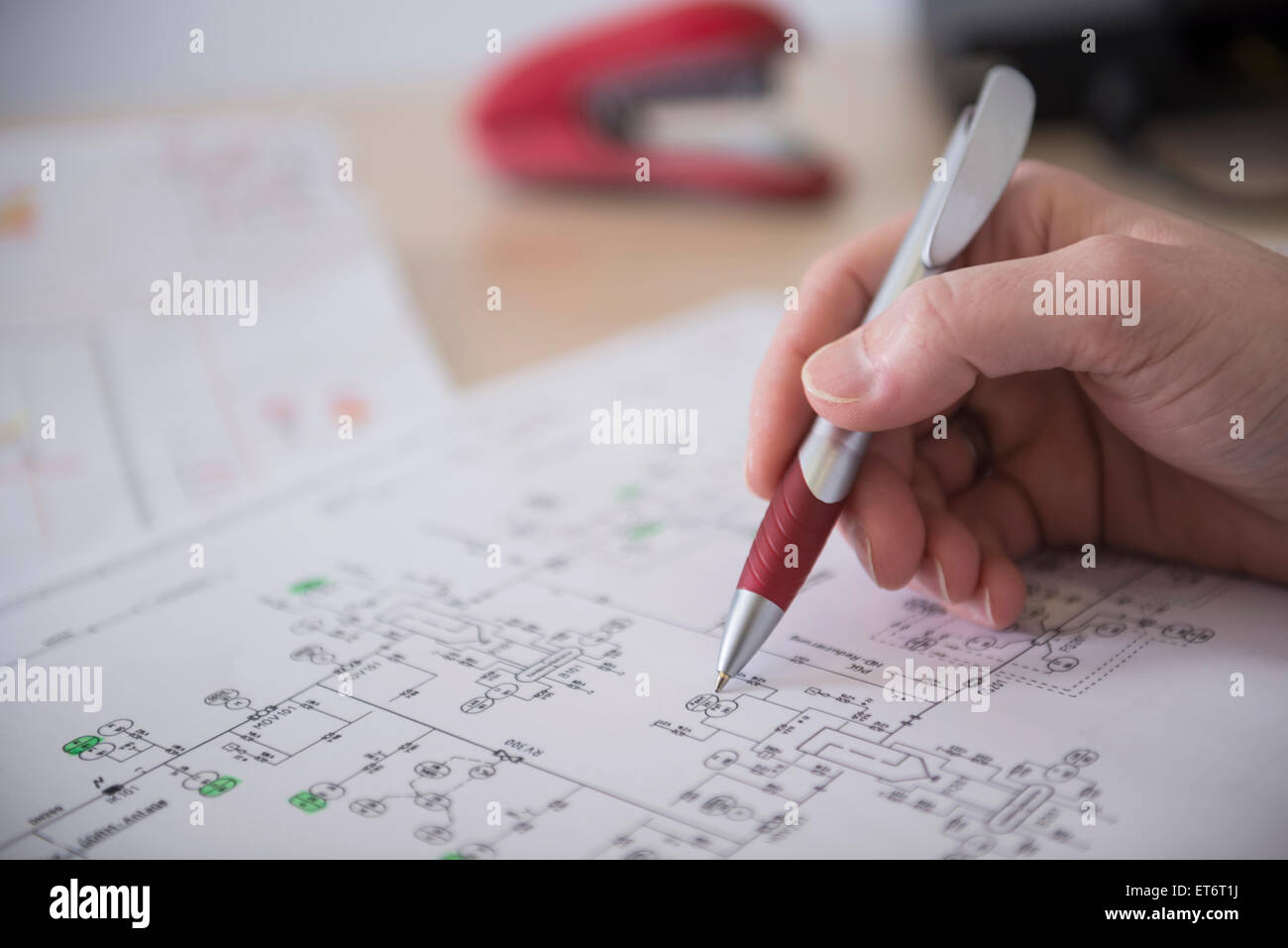 wiring stock photos wiring stock images alamy engineer analysing wiring diagram munich bavaria stock image