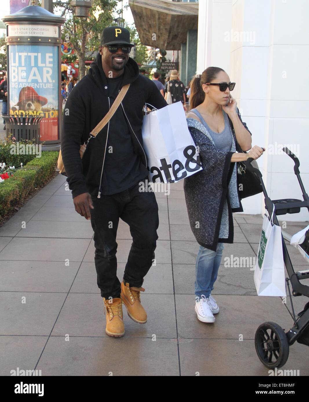 Celebrities Christmas shopping at The Grove Featuring: Lance Gross ...
