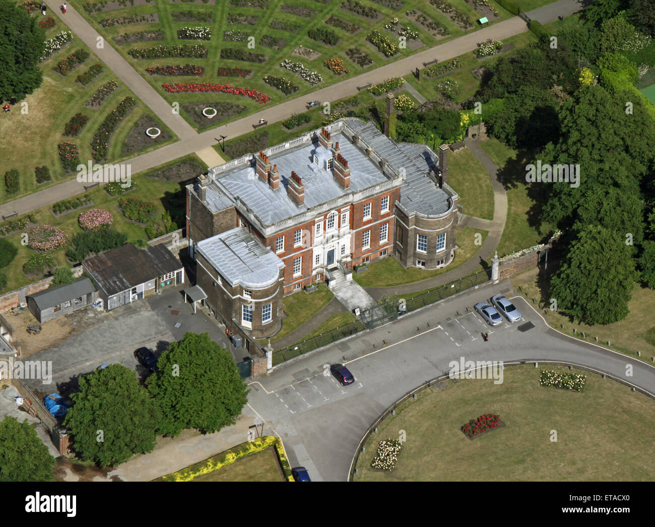 Aerial view of the rangers house rose garden in for See images of my house