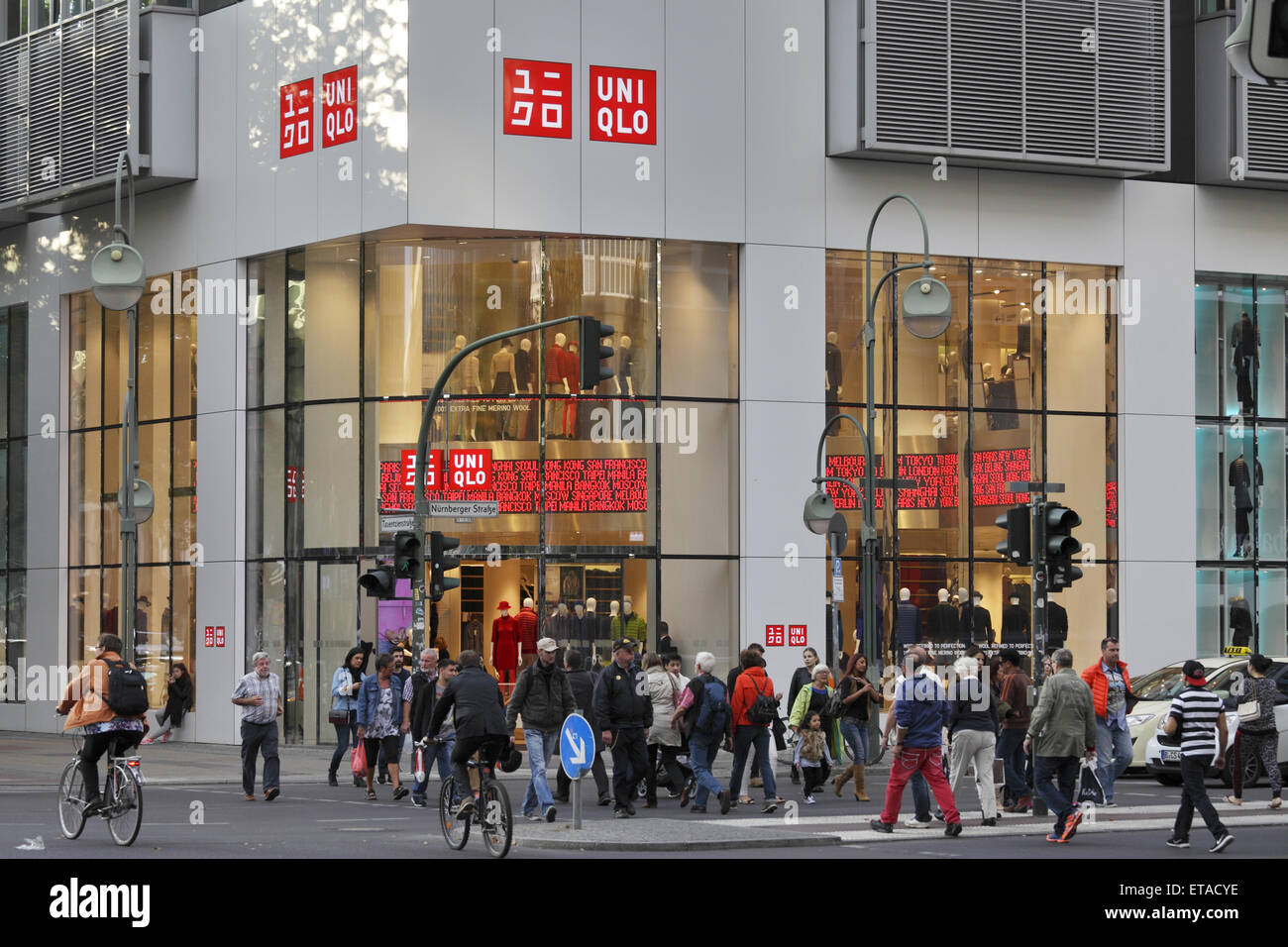 Berlin, Germany, Uniqlo Clothing Store On Tauentzien Stock Photo ...