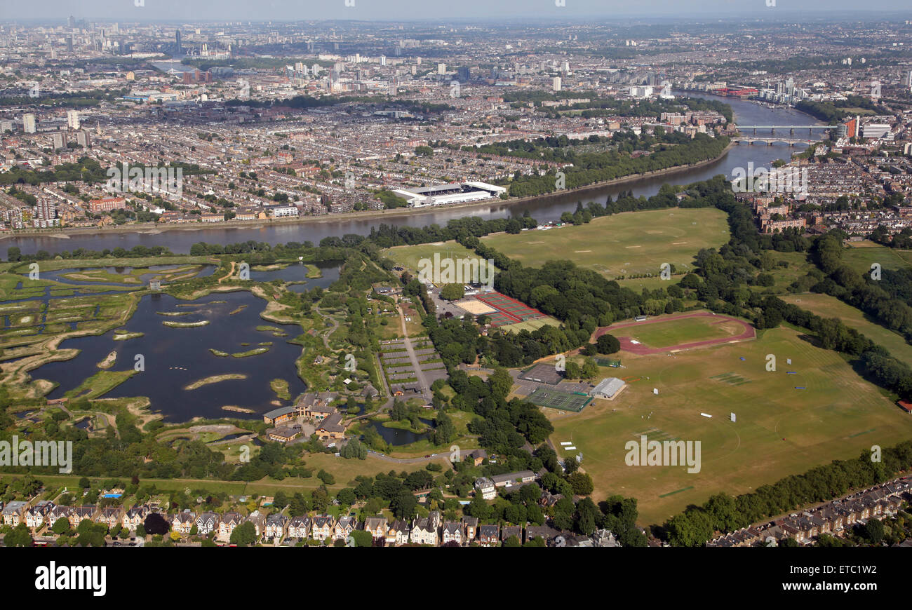 Aerial View Of Wwt London Wetland Centre At Barnes London