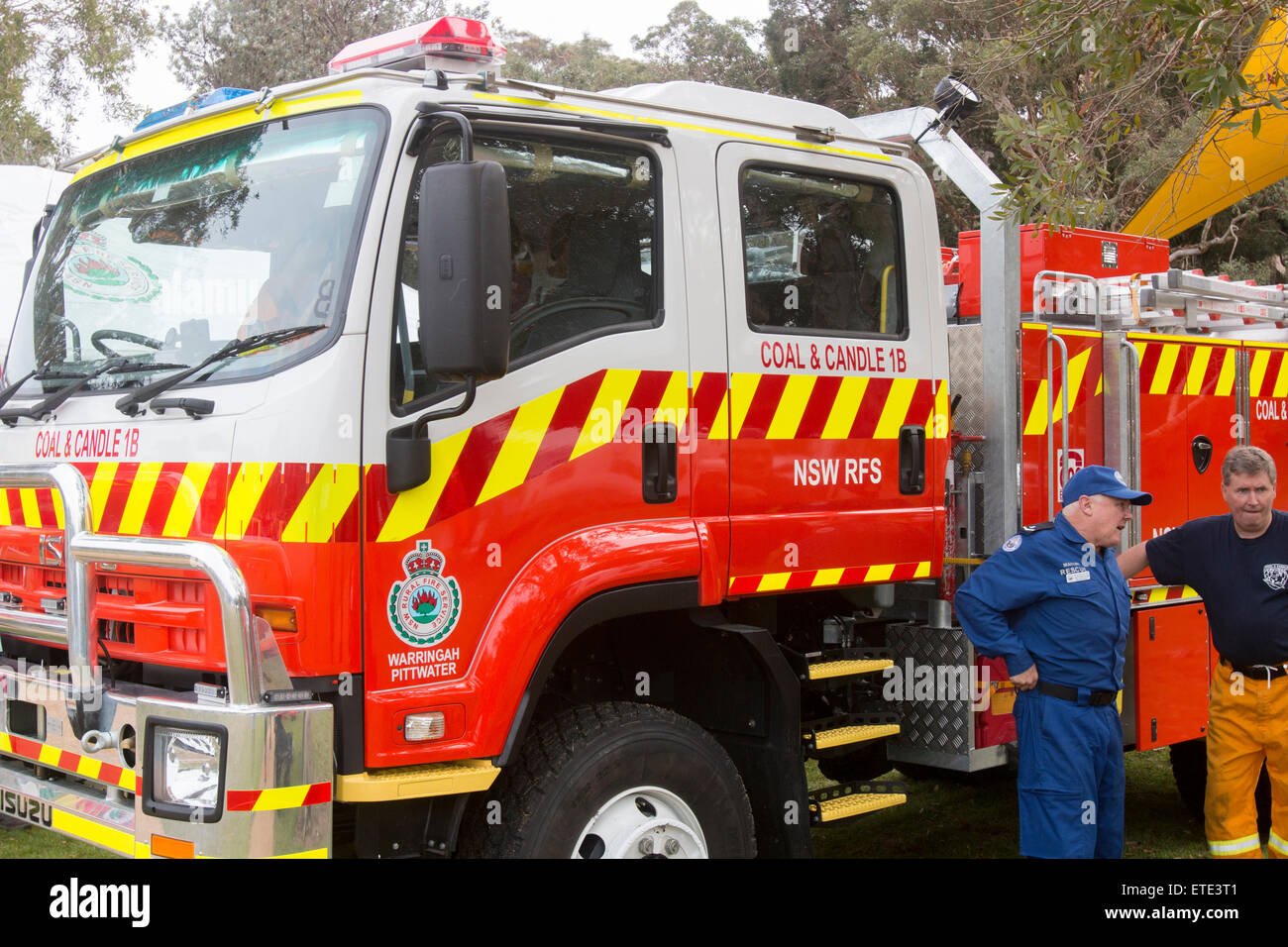 New South Wales NSW Rural Volunteer Firefighters And Their Fire - Avalon truck