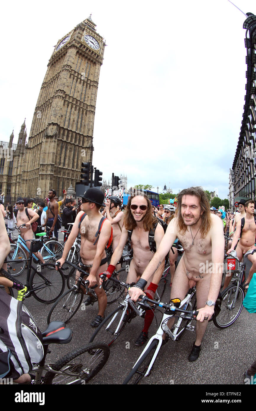 bike nede naked Participants in the World Naked Bike Ride 2015 in London where nude  cyclists protest against oil dependency Credit: Paul Brown/Alamy Live News