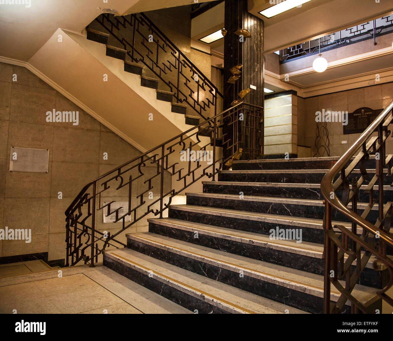Art Deco Staircase Hornsey Town Hall London Stock Photo