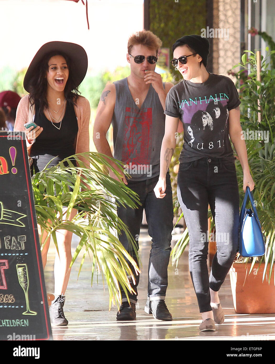 Black t shirt goes with - Rumer Willis In Black Jeans And Van Halen T Shirt Goes Shopping In Studio City Featuring Rumer Willis Where Los Angeles United States When 16 Feb 2015