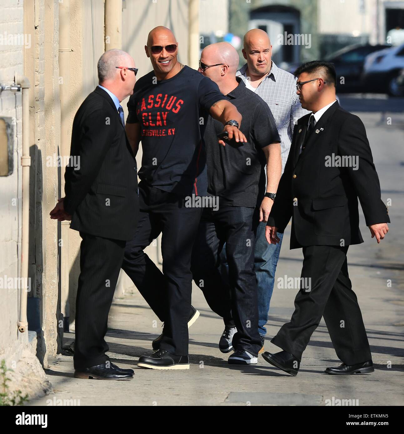 Dwayne Johnson At The Jimmy Kimmel Studios For An