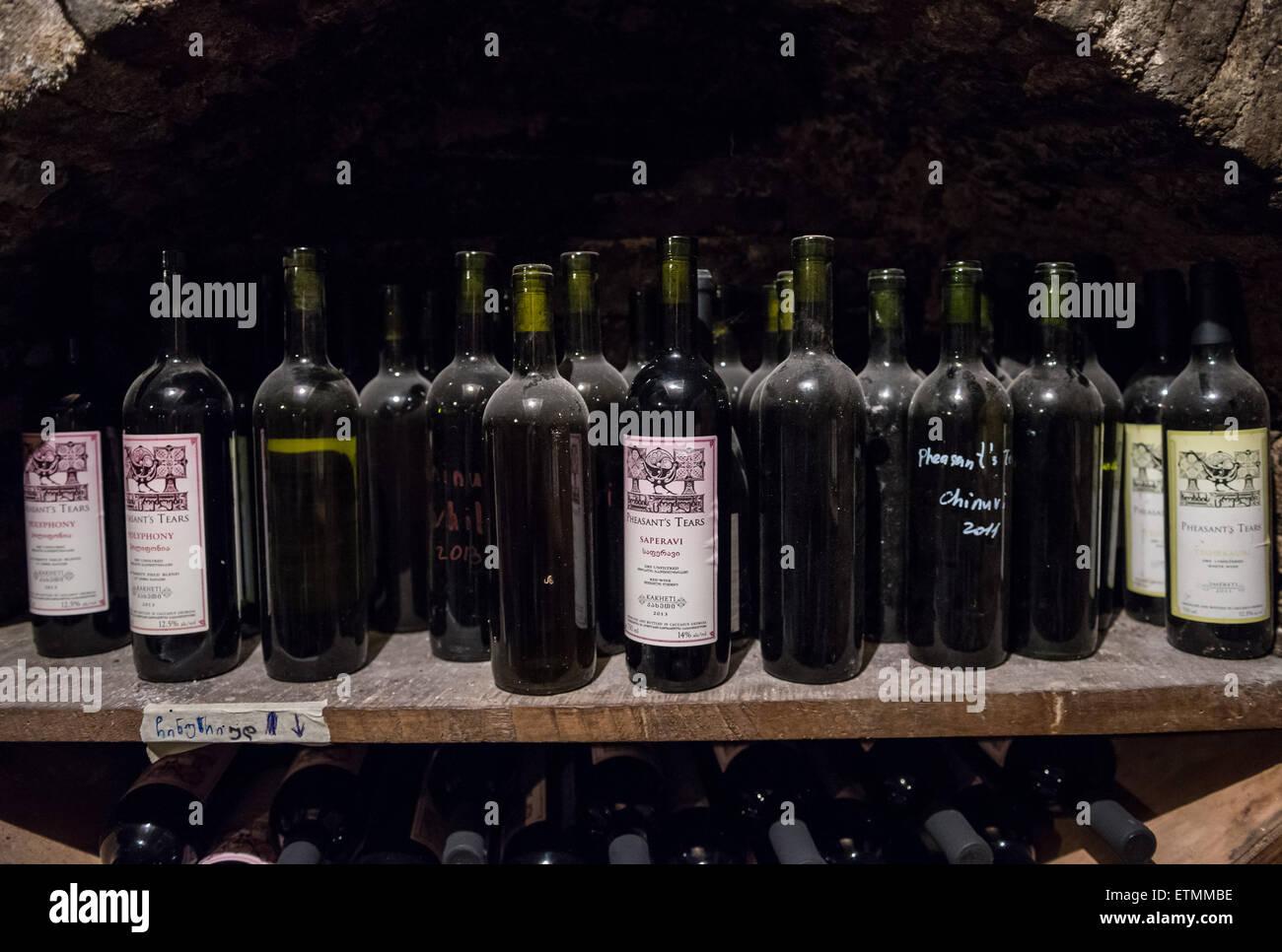 Saperavi Wine In Wine Cellar