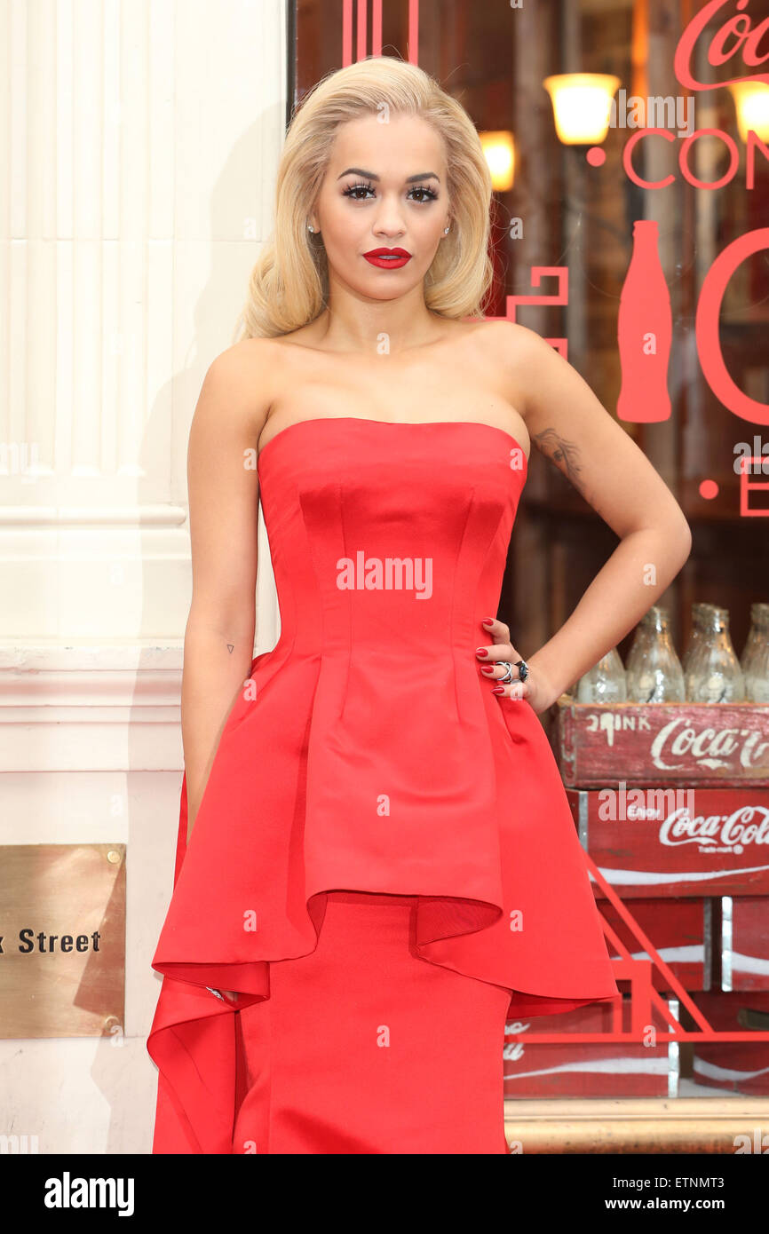 Rita Ora Celebrates 100 Years Of Coca Cola Contour Bottle