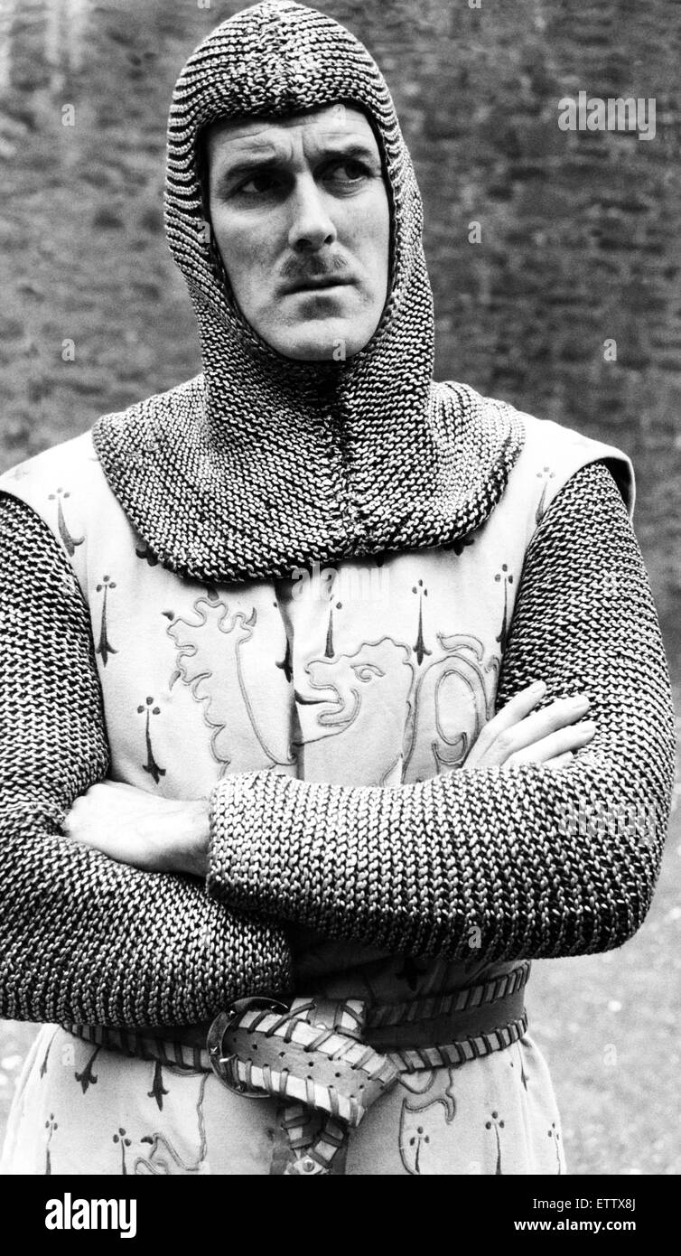 Knights of the round table monty python - John Cleese Filming The British Comedy Film Monty Python And The Holy Grail At The Old Castle Of Dounne In Scotland The Crew Dressed As Medieval Knights