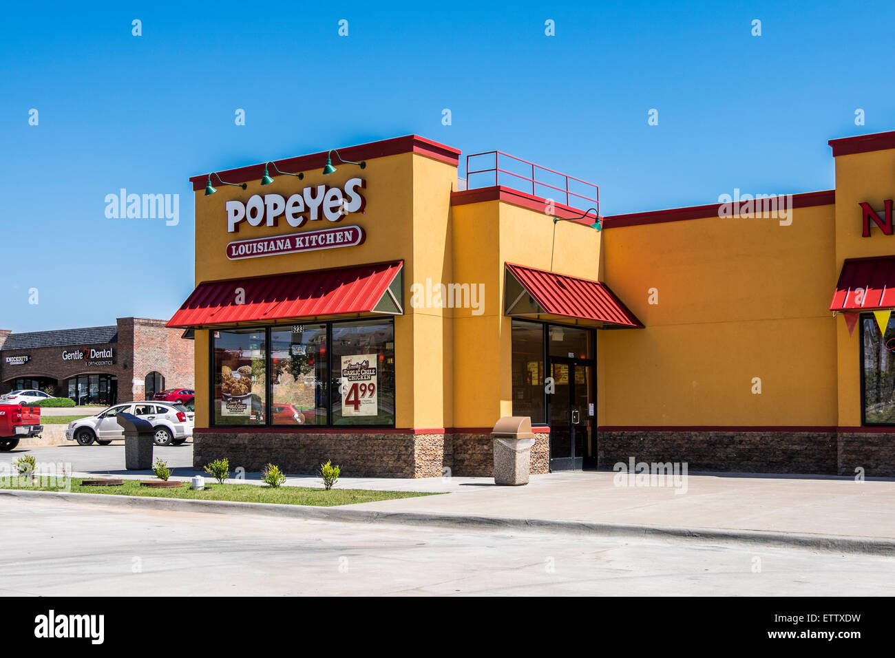 Popeye's, the exterior of a Cajun style restaurant and fast food ...