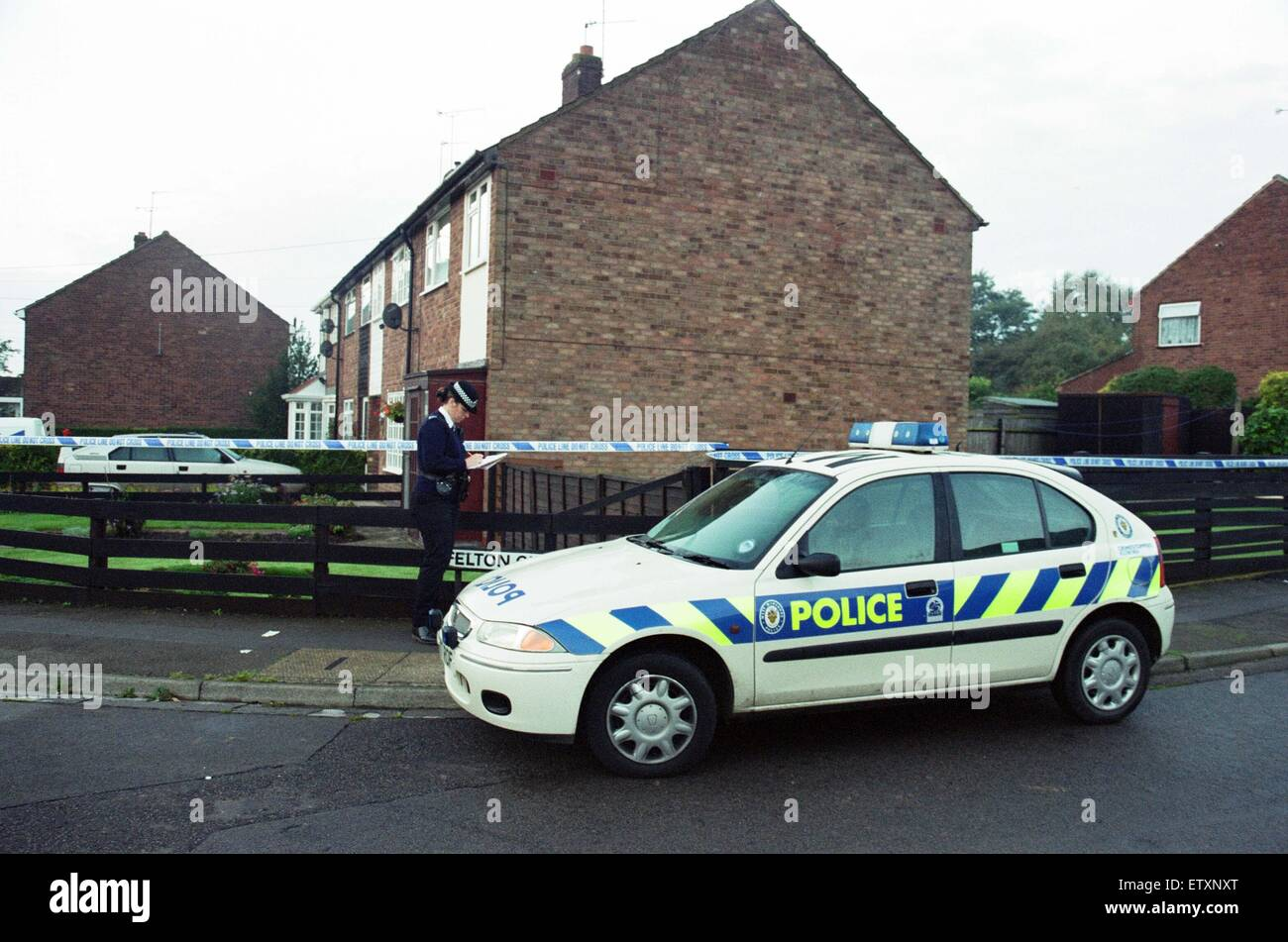 House with green roof coventry - Stock Photo The Scene At Yewdale Crescent Potters Green Coventry Three People Were Found Dead At The House Stuart Hall 25 Later Confessed To The
