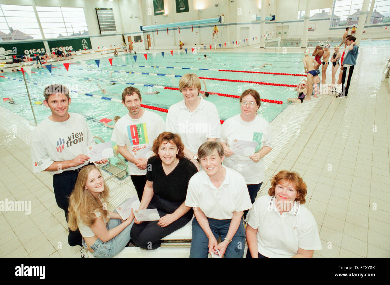 Neptune Swimming Pool Team Picture Of Qualified Instructors The Stock Photo Royalty Free