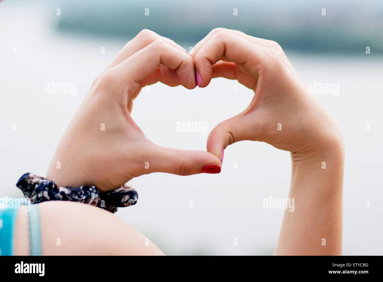 Heart hand wallpaper