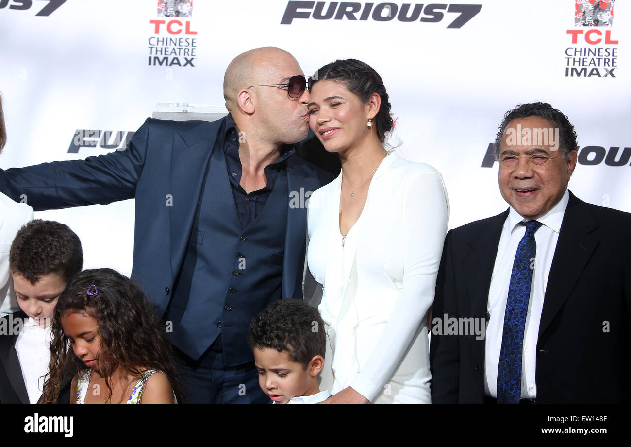 Vin diesel s hand print and foot print ceremony featuring vin diesel paloma