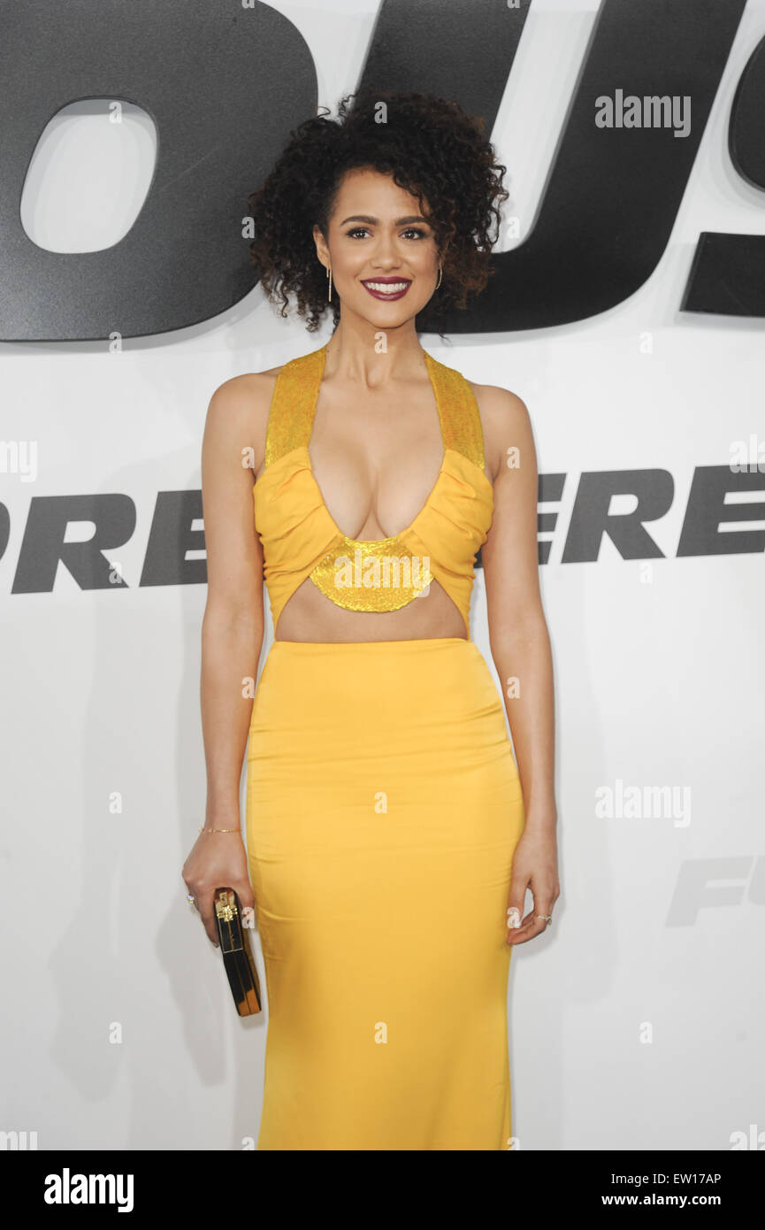 Nathalie emmanuel yellow dress