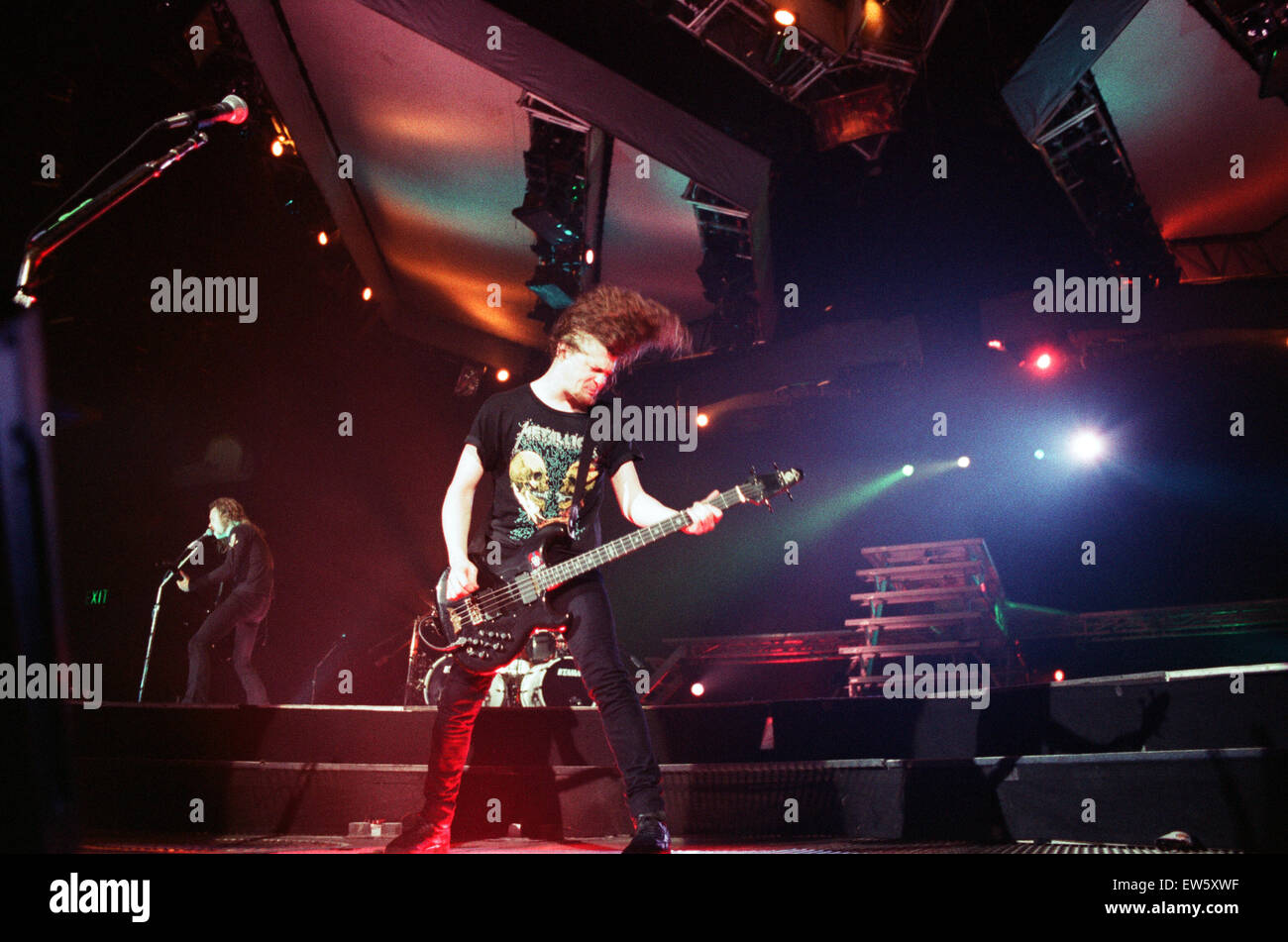 Metallica in concert at the NEC Arena, Birmingham. Jason ...