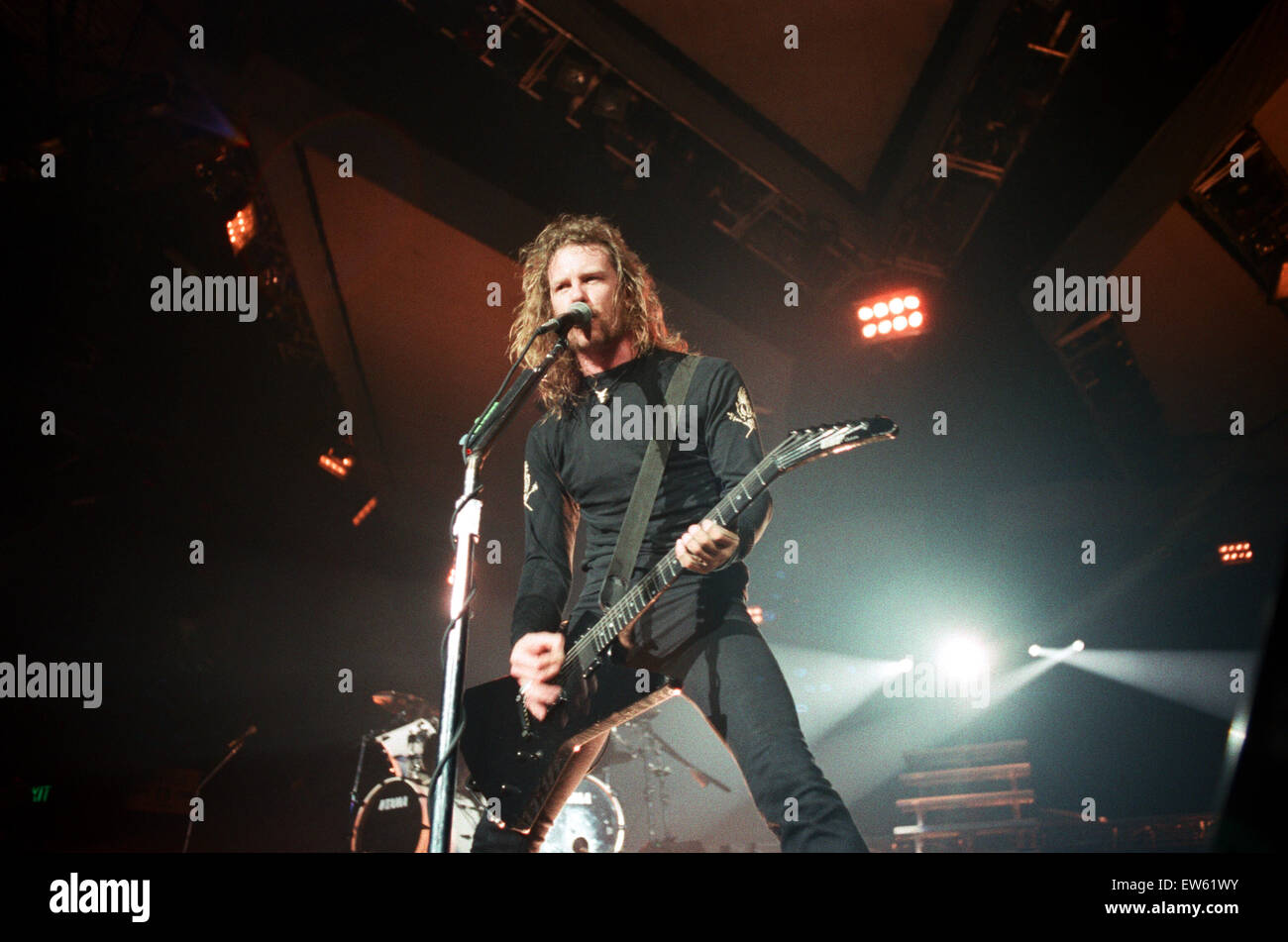 Metallica in concert at the NEC Arena, Birmingham. James ...