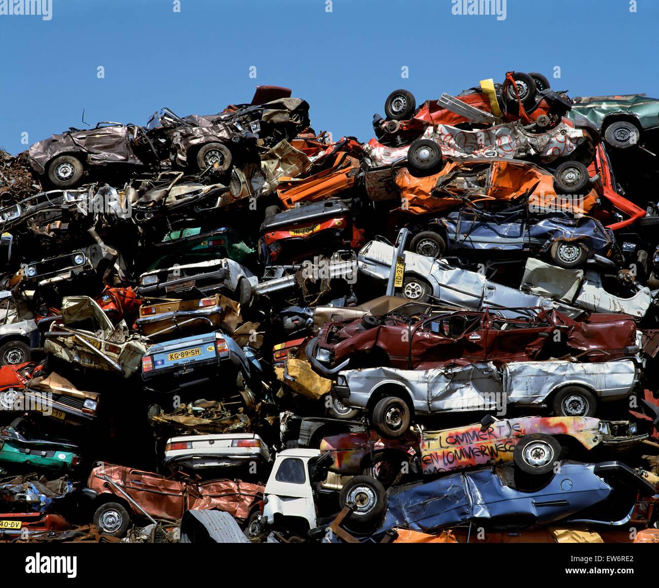 Vehicle scrap yard near Amsterdam Stock Photo, Royalty Free Image ...