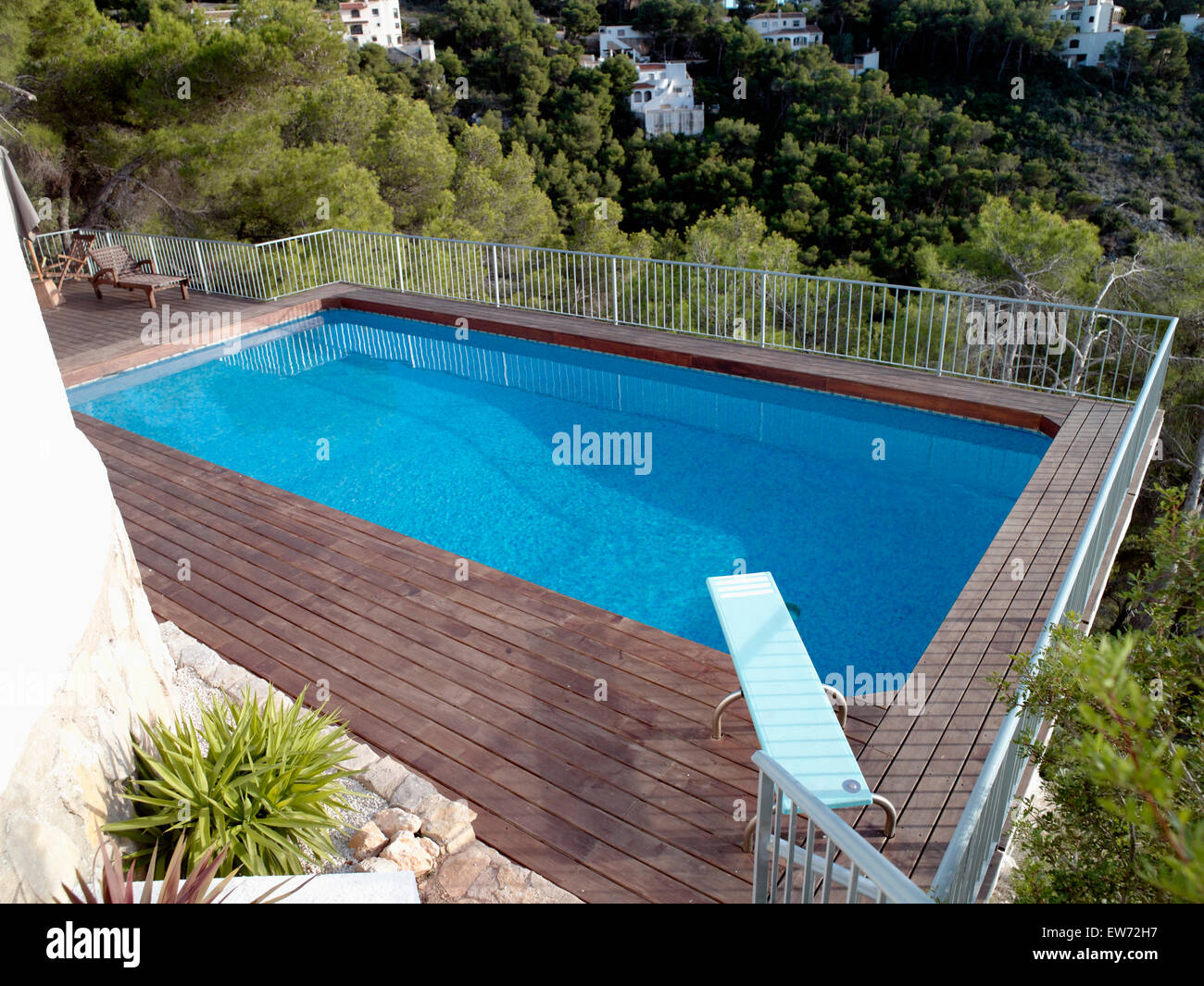 Mansion With Indoor Pool Diving Board Birdseye View Of Turquoise Swimming