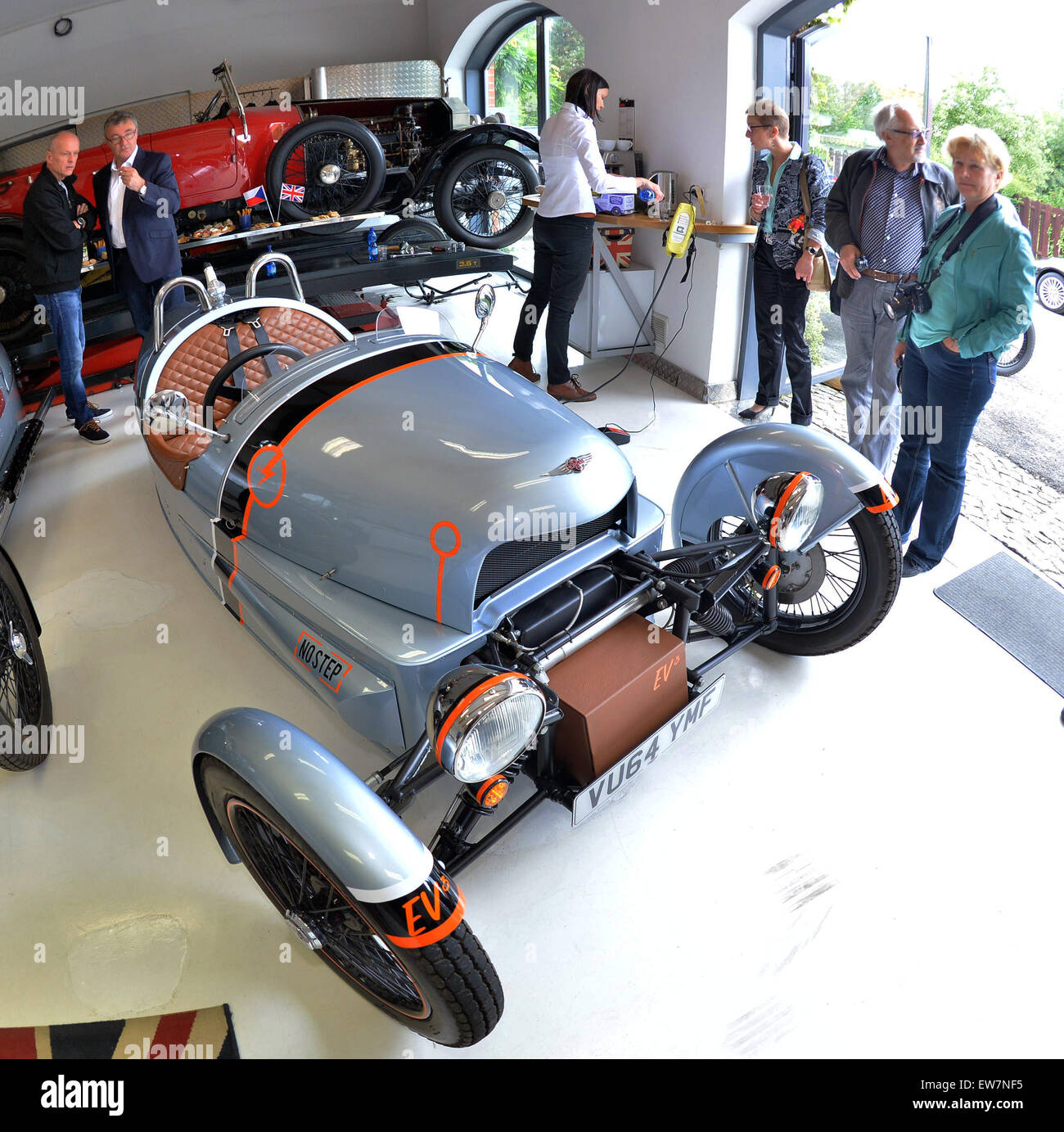 British car company Morgan unveiled a prototype of the ...