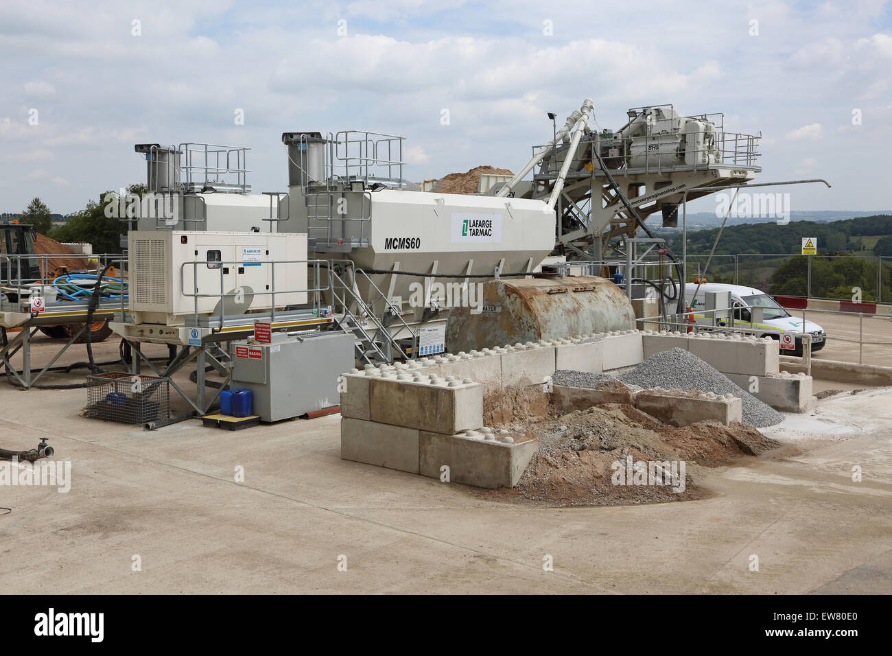 An on site concrete batching plant a large rural