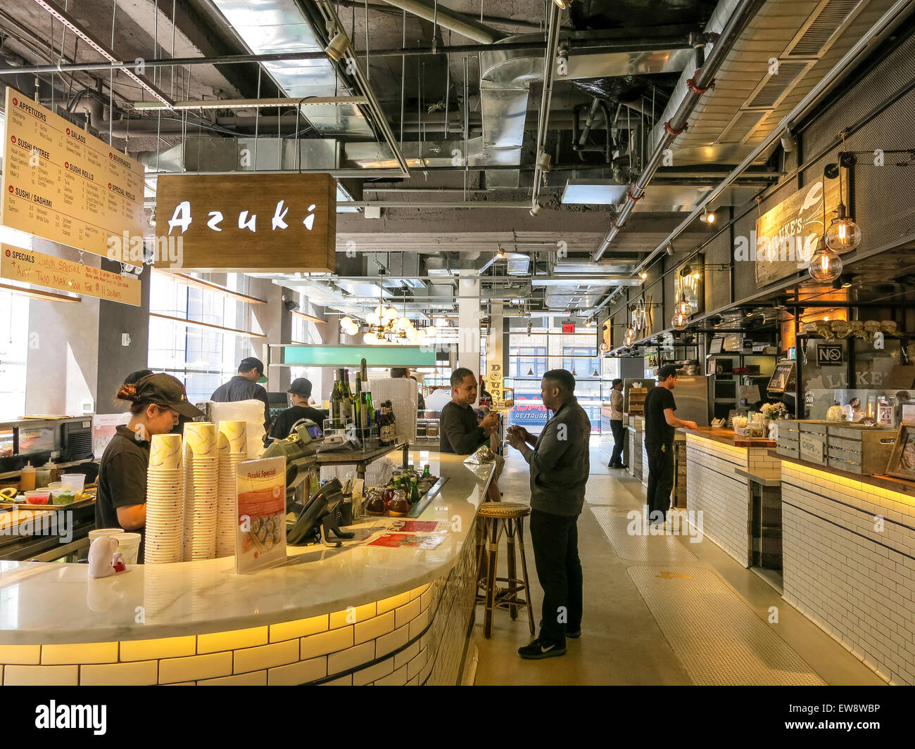 City Kitchen city kitchen food market, times square, nyc stock photo, royalty