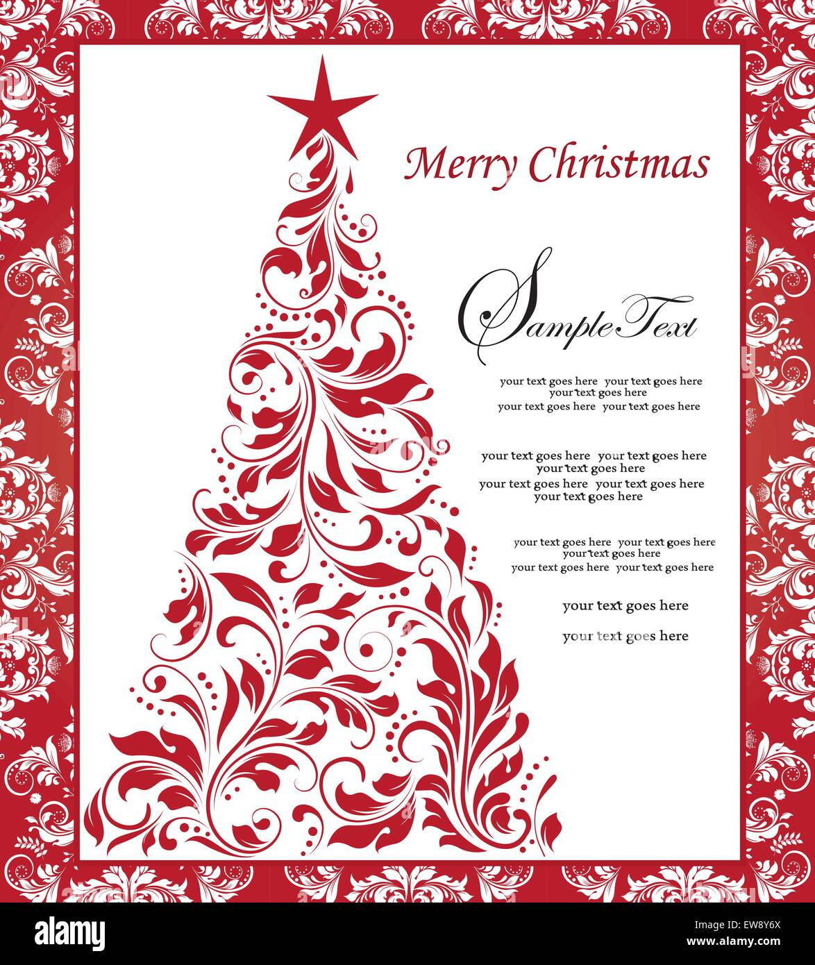 christmas card borders red download