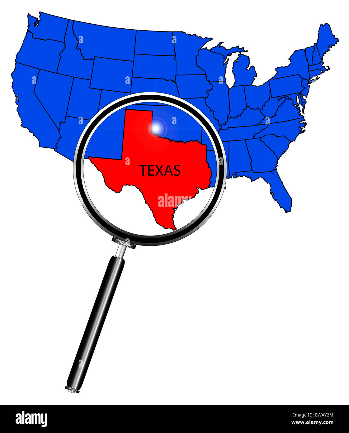 Worksheet. An outline map of The United States of America with Texas