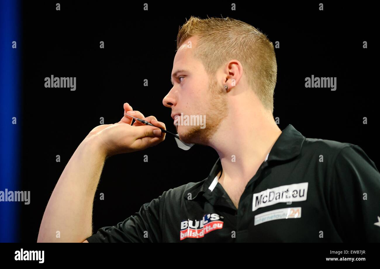 Dart Player Max Hopp From Germany During The International Darts Open In Riesa Germany  Photo Thomas Eisenhuth Dpa