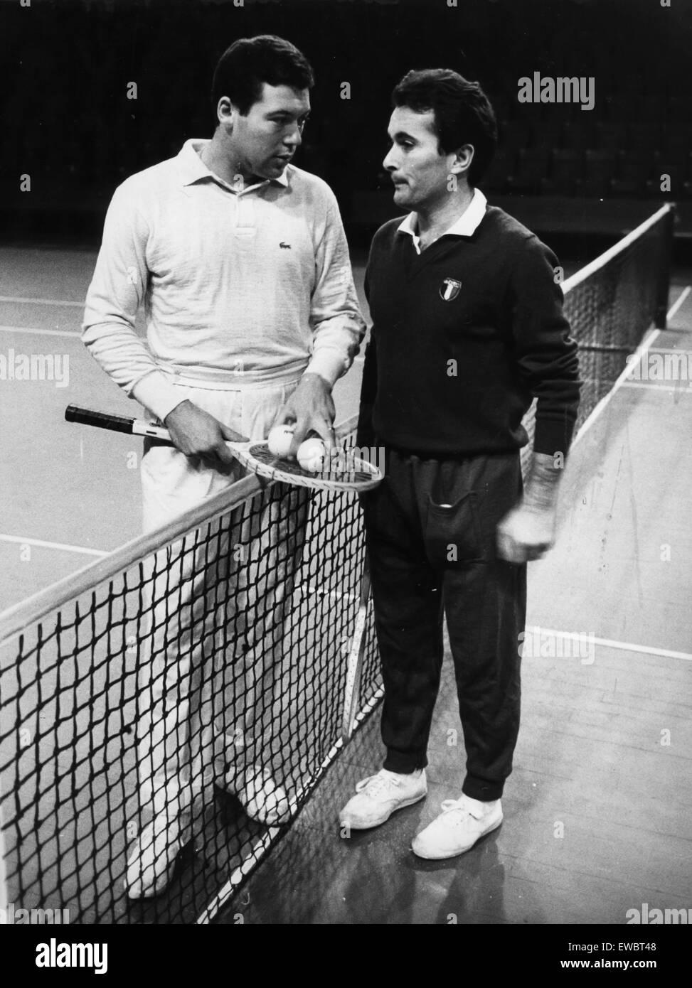 nicola pietrangeli with the trainer beppe merlo 1962 Stock