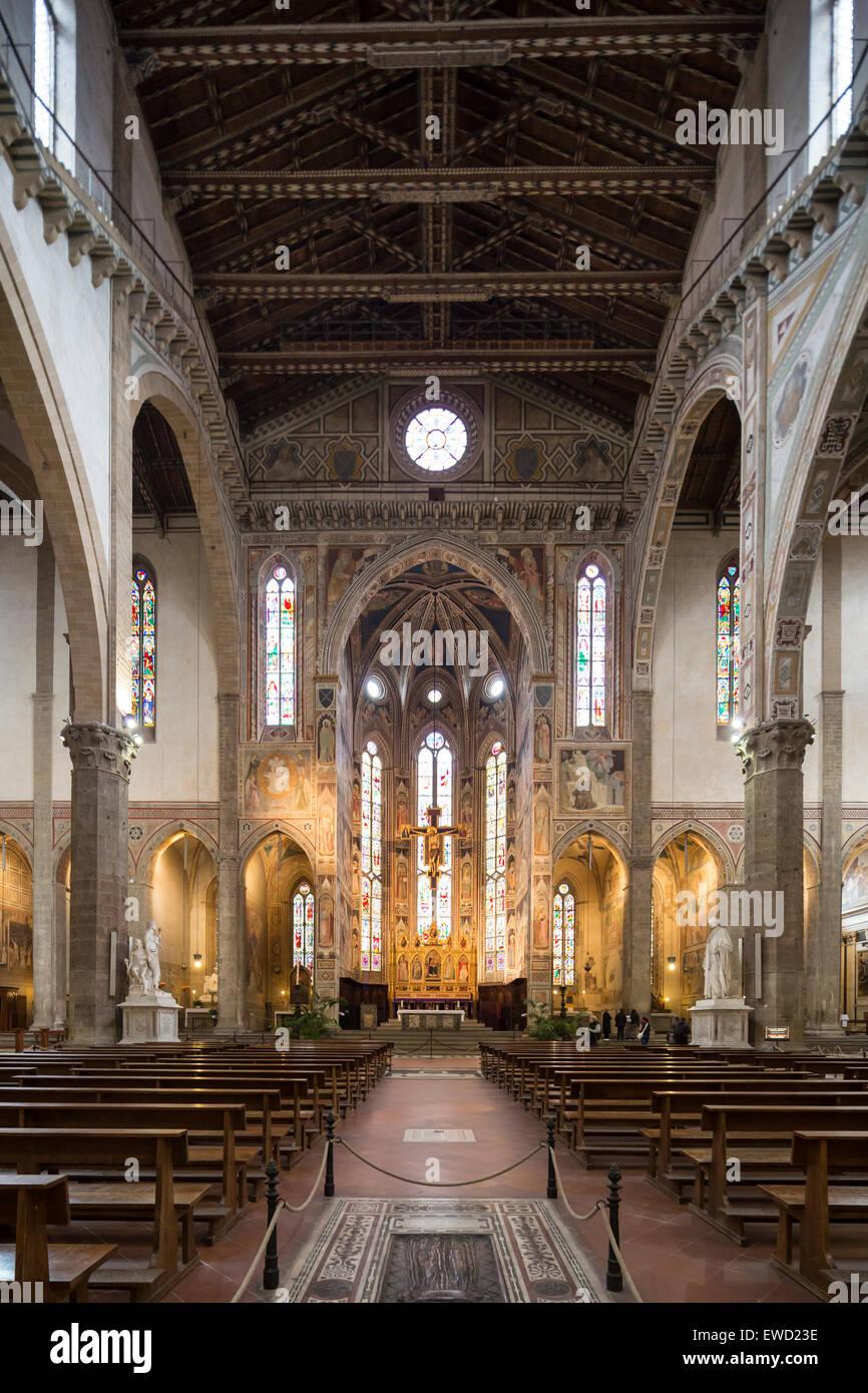 nave and altar in apse, Basilica di Santa Croce, Basilica ...