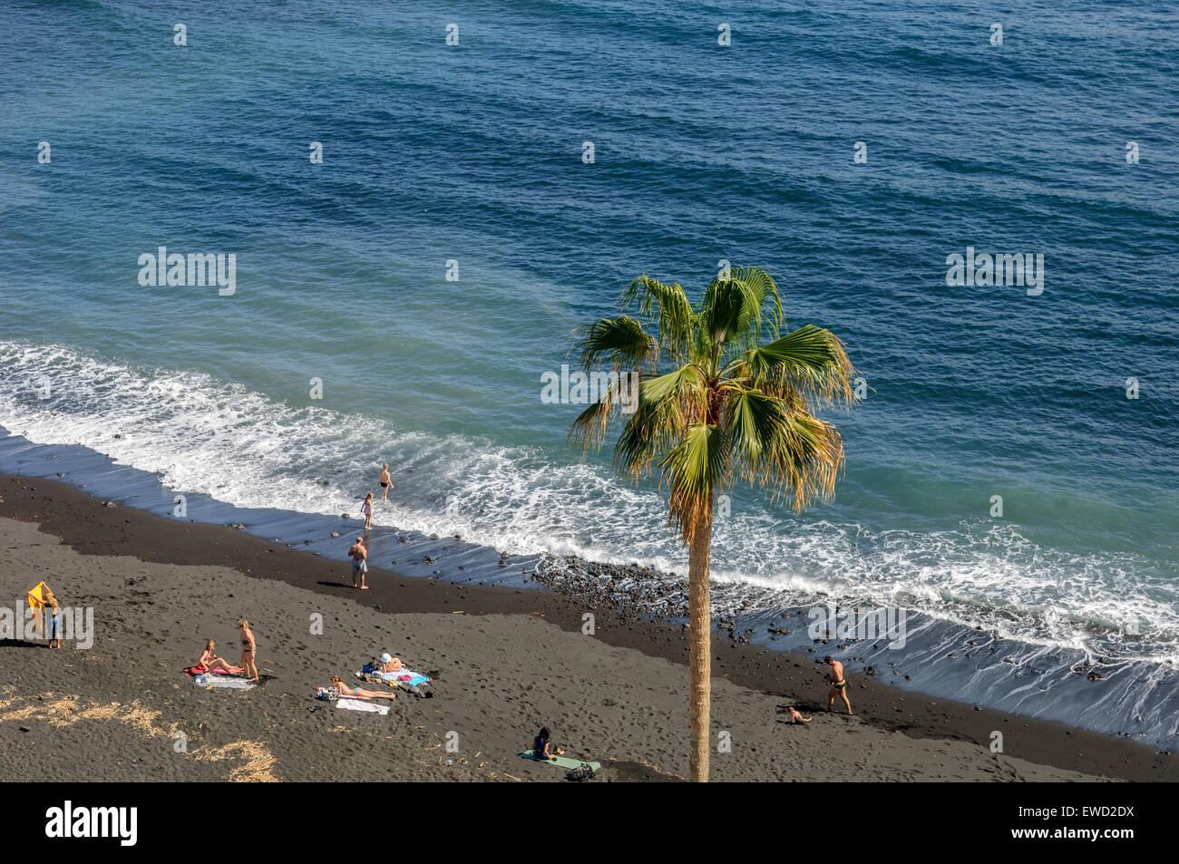 Playa jard n puerto de la cruz tenerife canary islands - Playa jardin puerto de la cruz tenerife ...