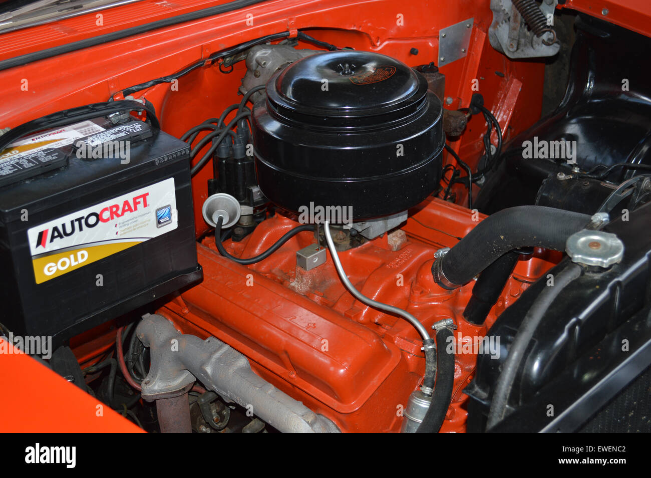A 1955 Chevrolet 265 V8 Engine Stock Photo Royalty Free