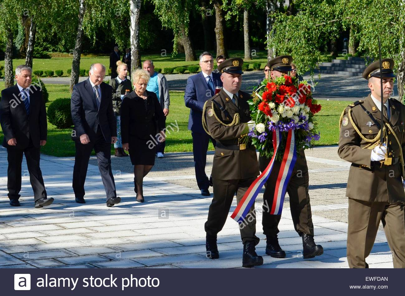Of Wreaths Zagrebcroatia 25th June 2015 Laying Of Wreaths At The City