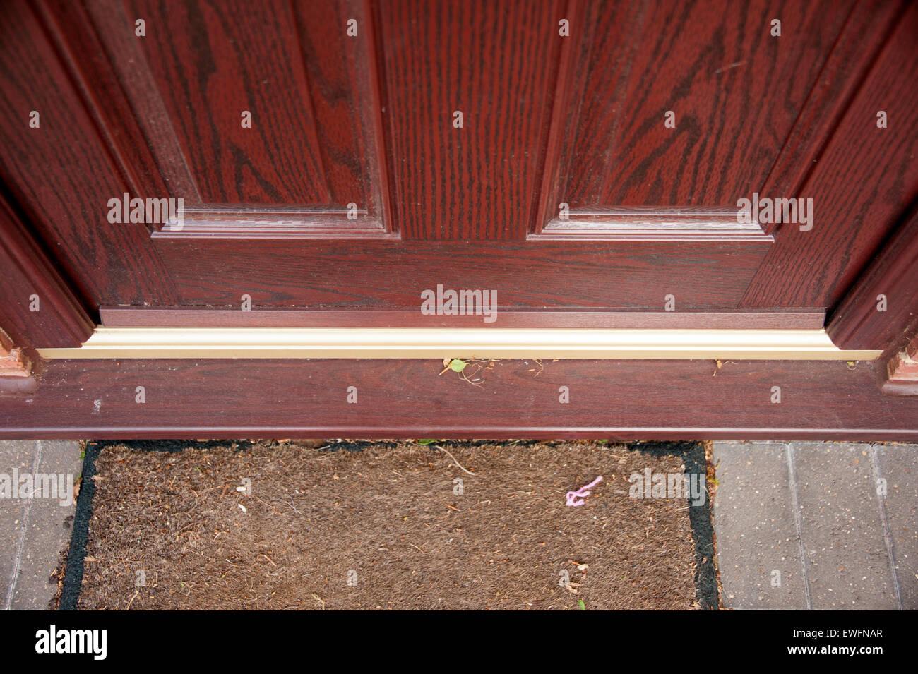 Threshold Front Door Part - 46: Modern Composite UPVC Front Door Brass Threshold Sill