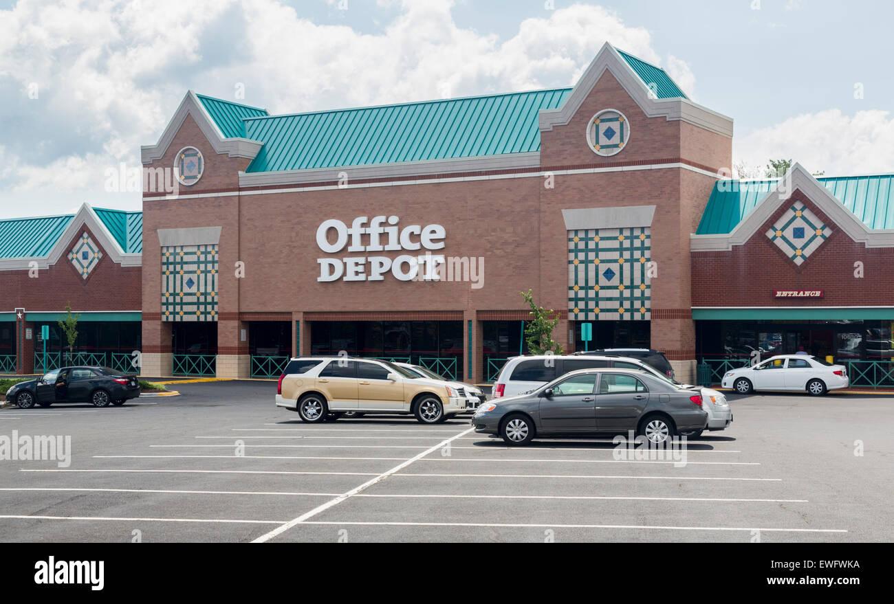 Office Depot Store In Manassas Virginia Usa Stock Photo