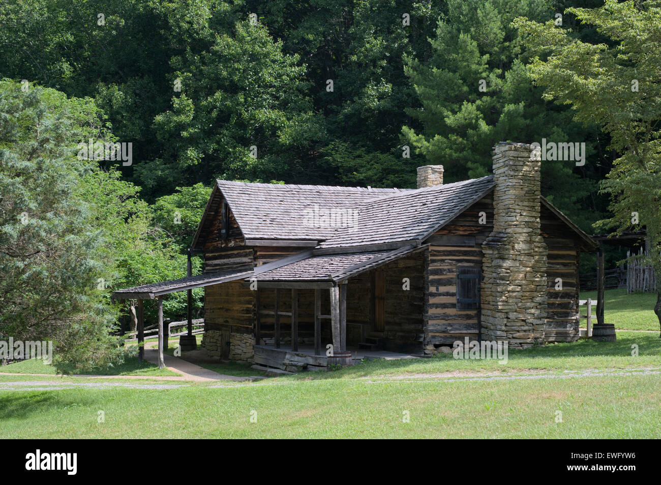 Hutchinson Homestead At Stone Mountain State Park In Roaring Gap North  Carolina. Mountain Homestead
