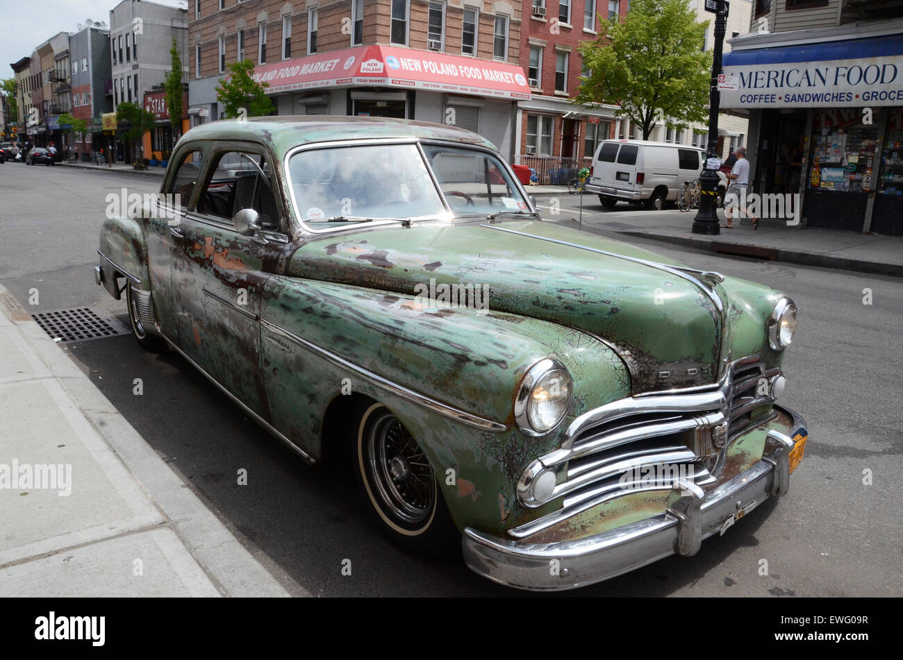 Dodge Motor Car Vintage Old American New York Williamsburg
